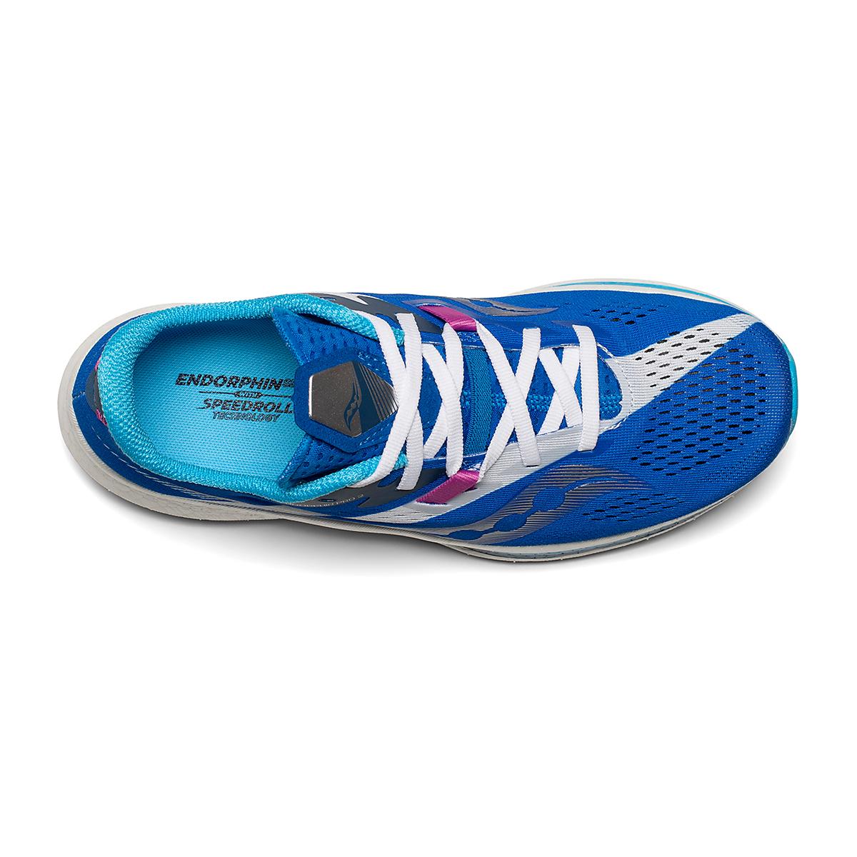 Women's Saucony Endorphin Pro 2 Running Shoe - Color: Royal/White - Size: 5 - Width: Regular, Royal/White, large, image 3