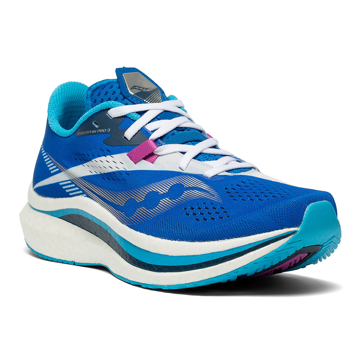 Women's Saucony Endorphin Pro 2 Running Shoe - Color: Royal/White - Size: 5 - Width: Regular, Royal/White, large, image 5