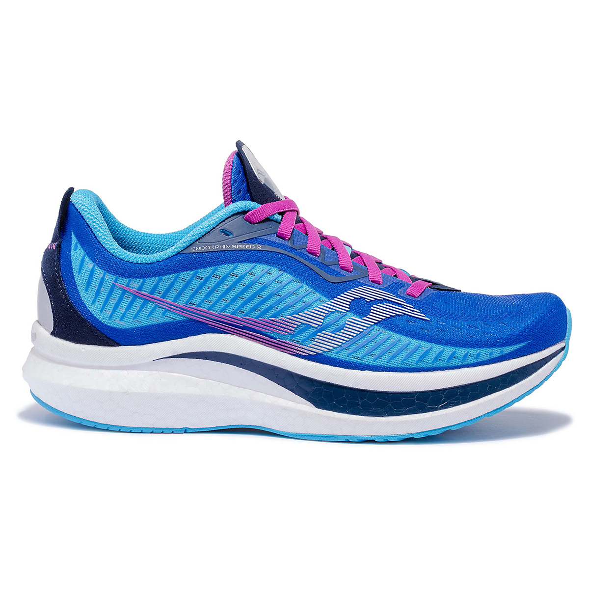 Women's Saucony Endorphin Speed 2 Running Shoe - Color: Royal / Blaze - Size: 5 - Width: Regular, Royal / Blaze, large, image 1