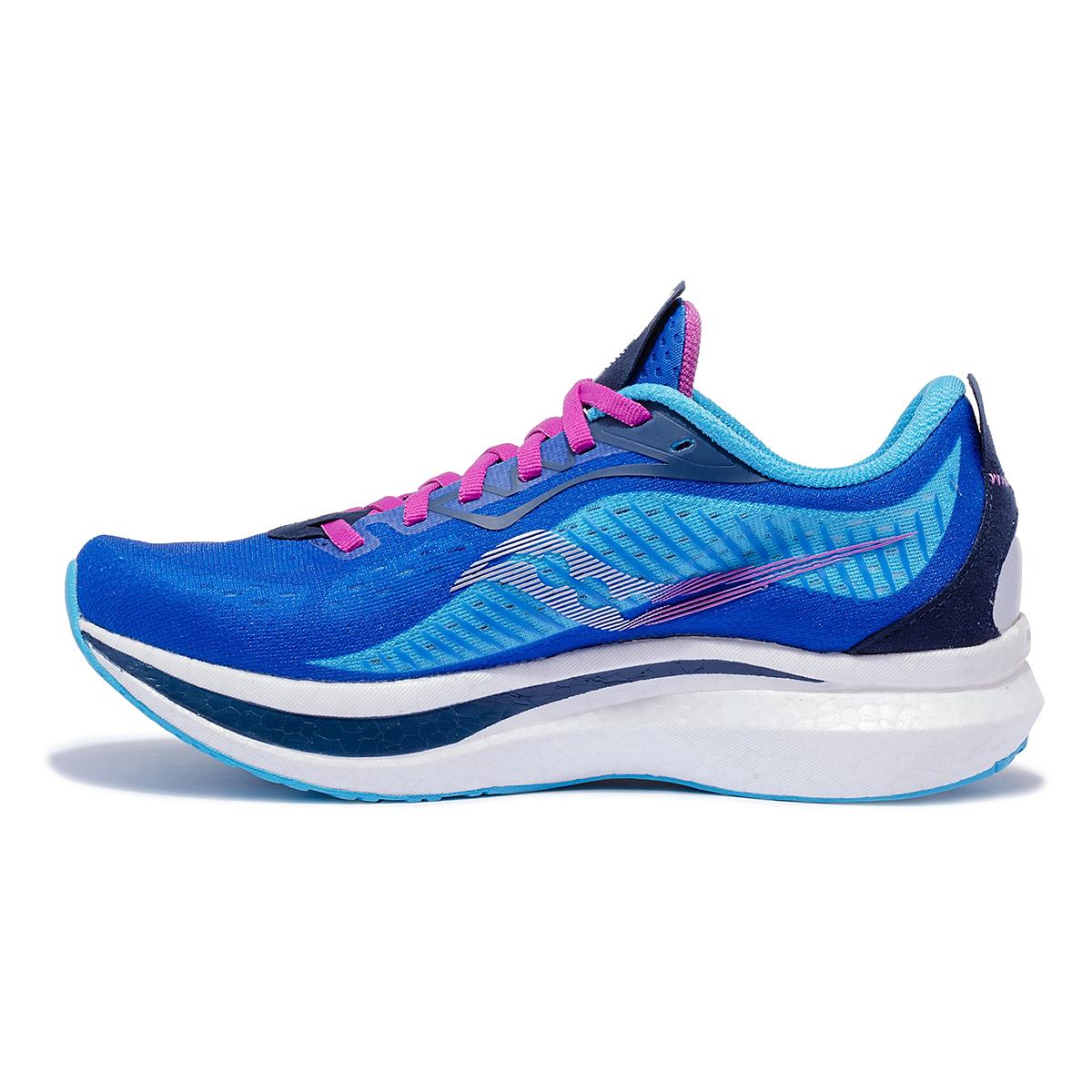 Women's Saucony Endorphin Speed 2 Running Shoe - Color: Royal / Blaze - Size: 5 - Width: Regular, Royal / Blaze, large, image 2