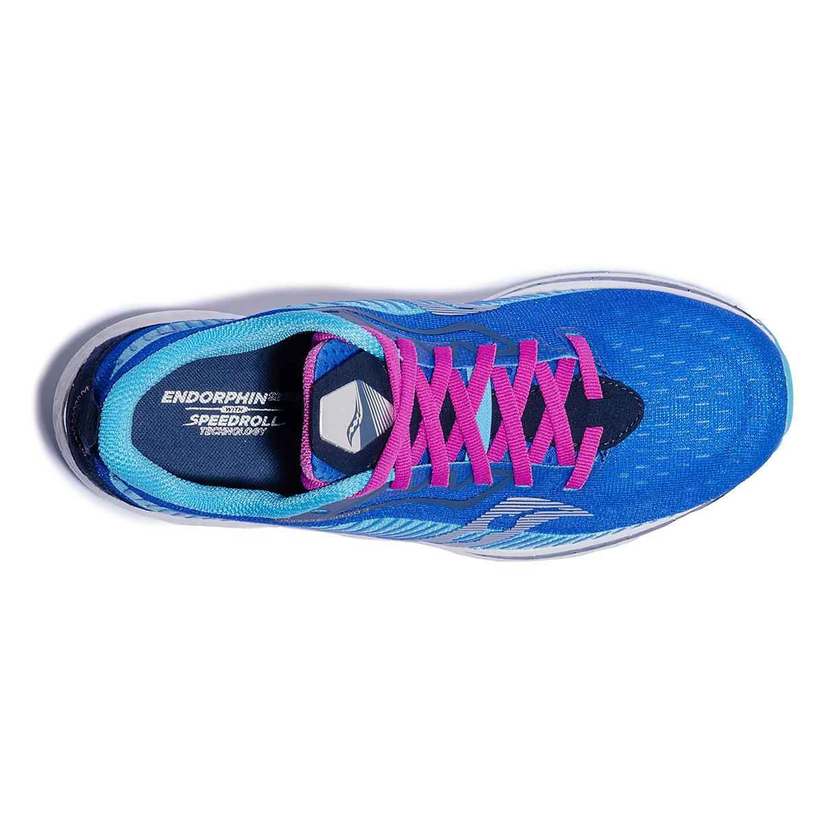 Women's Saucony Endorphin Speed 2 Running Shoe - Color: Royal / Blaze - Size: 5 - Width: Regular, Royal / Blaze, large, image 3
