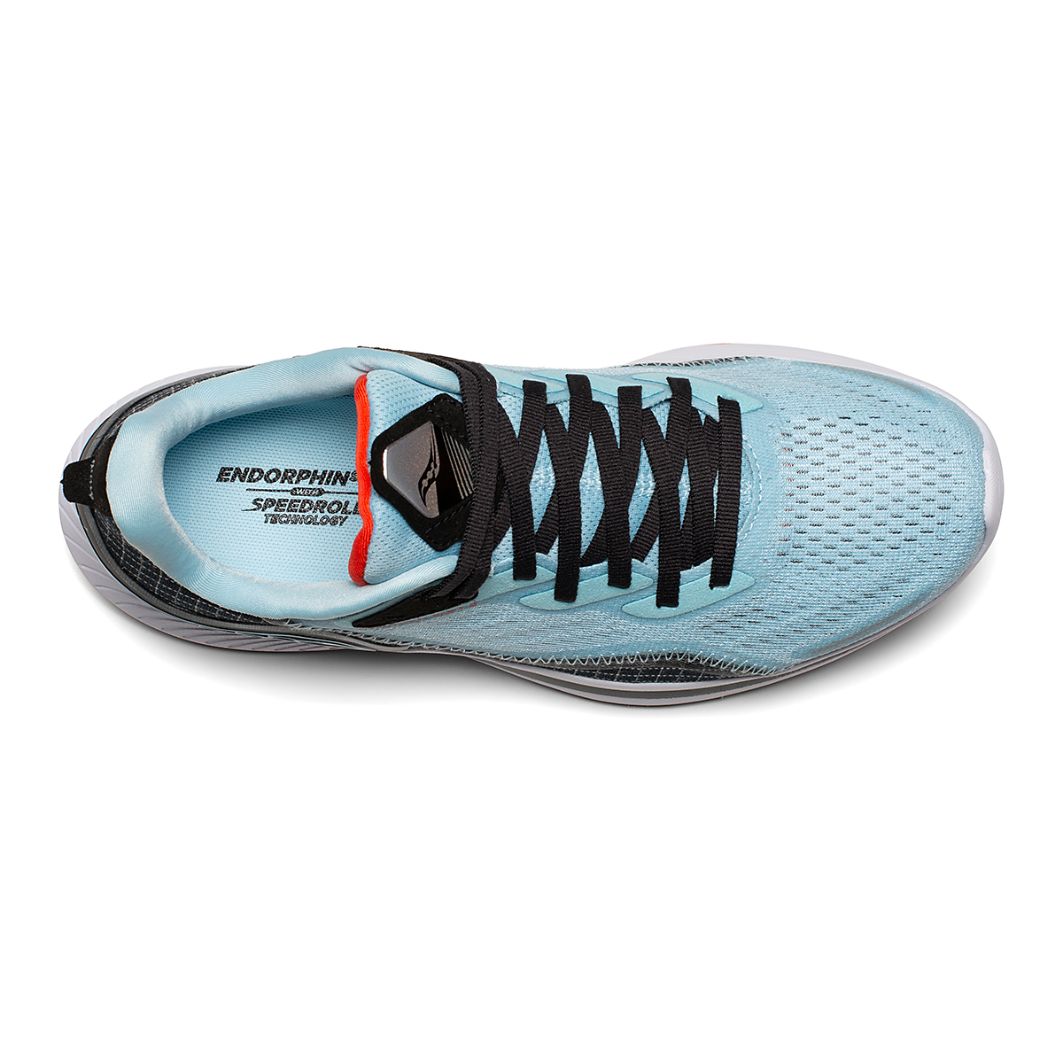 Women's Saucony Endorphin Shift 2 Running Shoe - Color: Powder/Scarlet - Size: 5 - Width: Regular, Powder/Scarlet, large, image 3