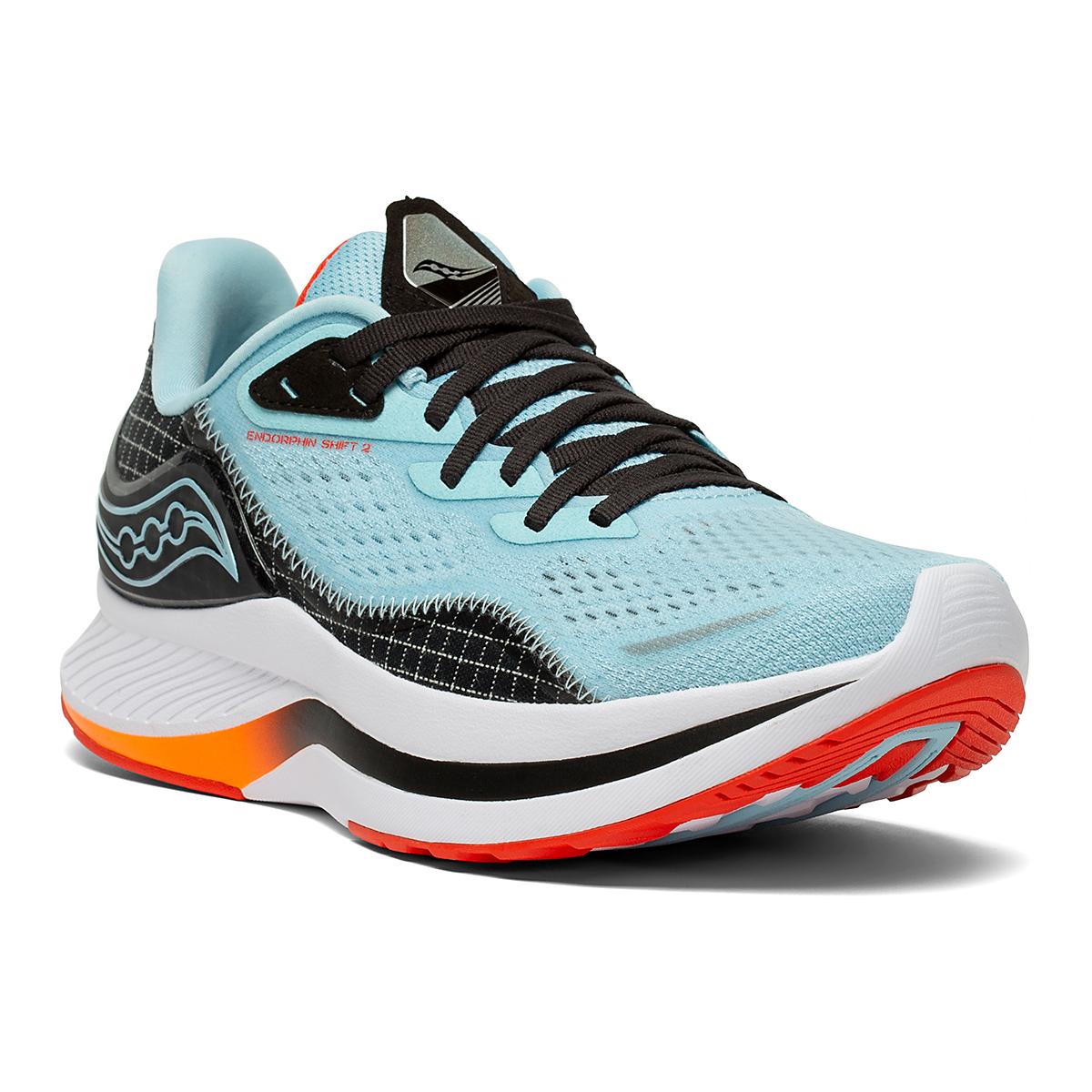 Women's Saucony Endorphin Shift 2 Running Shoe - Color: Powder/Scarlet - Size: 5 - Width: Regular, Powder/Scarlet, large, image 5
