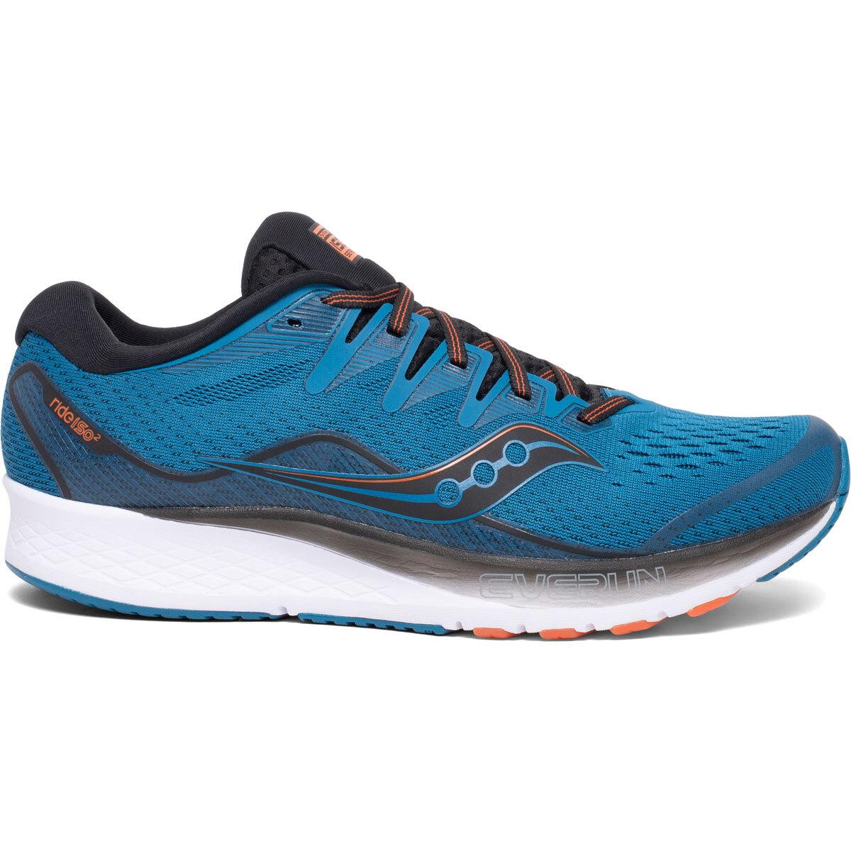 Men's Saucony Ride Iso 2 Running Shoe - Color: Blue/Black (Regular Width) - Size: 11, Blue/Black, large, image 1
