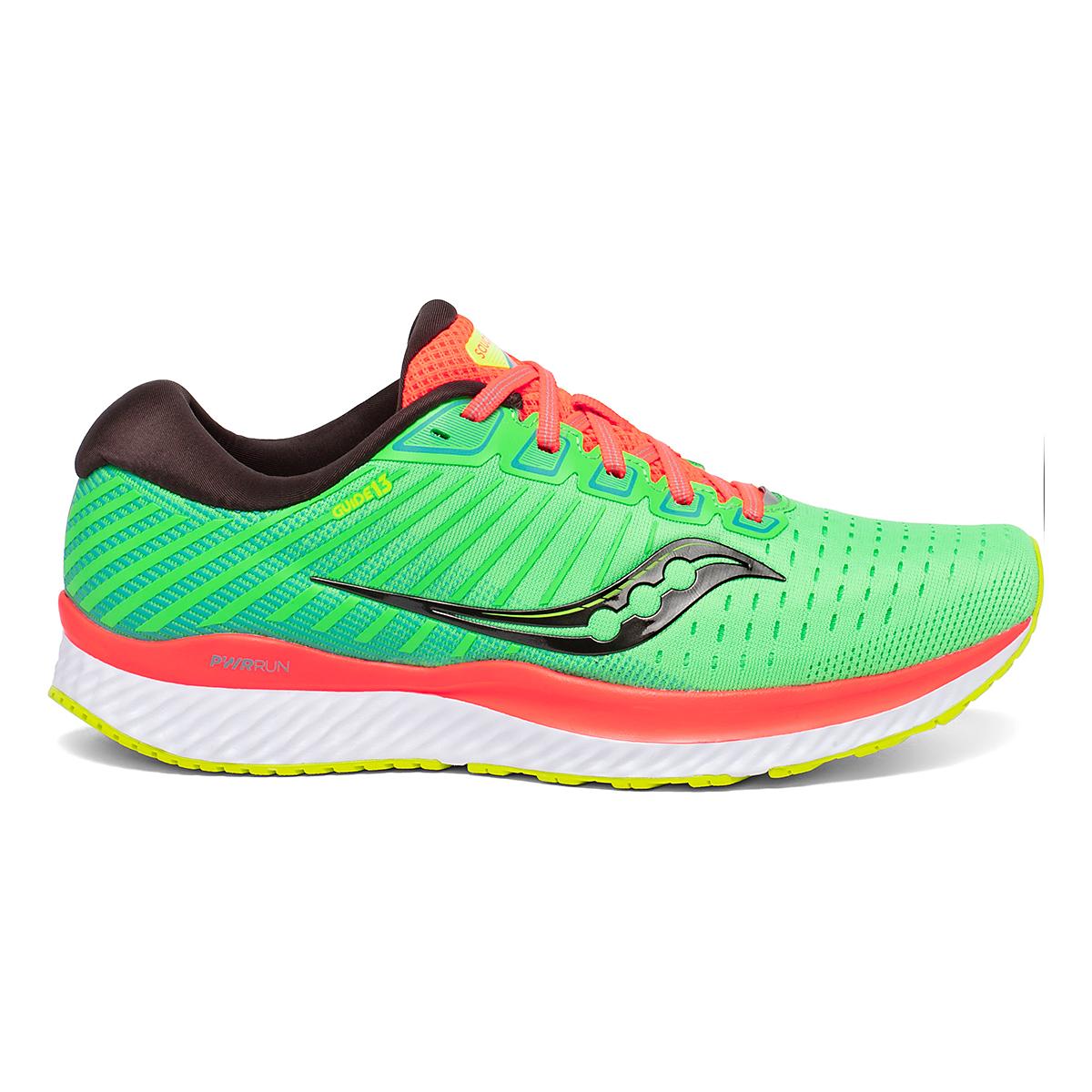 Men's Saucony Guide 13 Running Shoe - Color: Green Mutant - Size: 7 - Width: Regular, Green Mutant, large, image 1