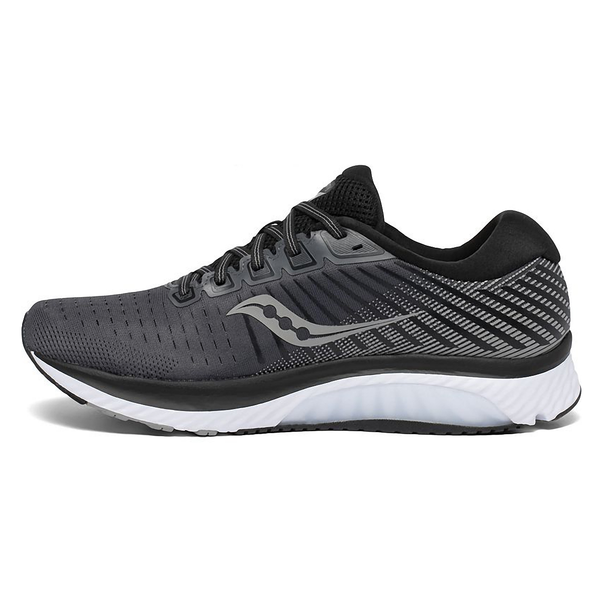 Men's Saucony Guide 13 Walking Shoe - Color: Black/White - Size: 8 - Width: Regular, Black/White, large, image 2