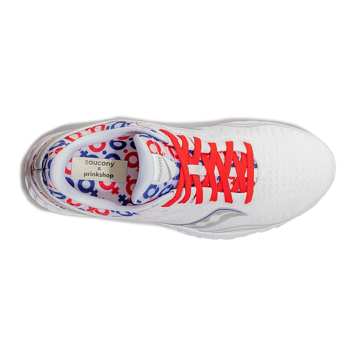 Men's Saucony x Prinkshop Hero Kinvara 11 Running Shoe - Color: Red/White/Blue - Size: 7 - Width: Regular, Red/White/Blue, large, image 3