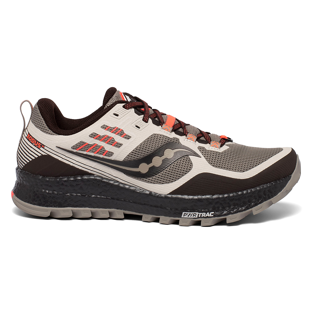 Men's Saucony Xodus 10 Trail Running Shoe - Color: Moonrock/Coffee - Size: 7 - Width: Regular, Moonrock/Coffee, large, image 1