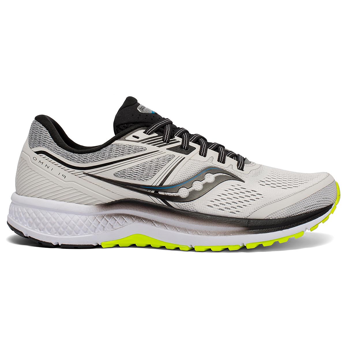 Men's Saucony Omni 19 Running Shoe - Color: Fog/Citrus - Size: 7 - Width: Regular, Fog/Citrus, large, image 1