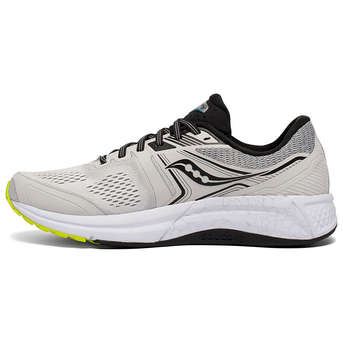 Men's Saucony Omni 19 Running Shoe - Color: Fog/Citrus - Size: 7 - Width: Regular, Fog/Citrus, large, image 2