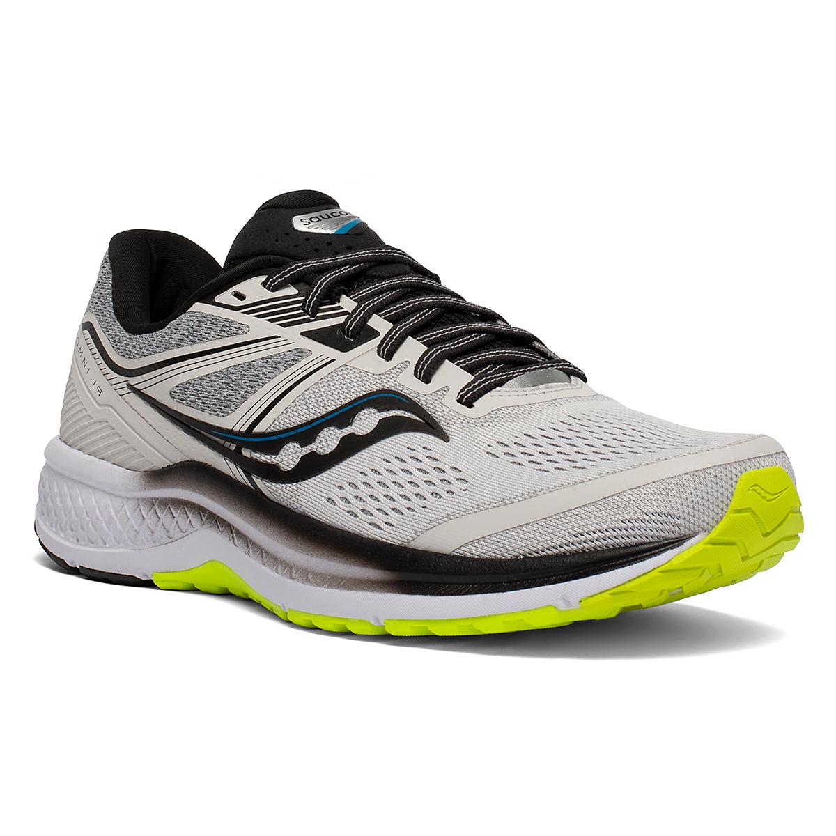 Men's Saucony Omni 19 Running Shoe - Color: Fog/Citrus - Size: 7 - Width: Regular, Fog/Citrus, large, image 3