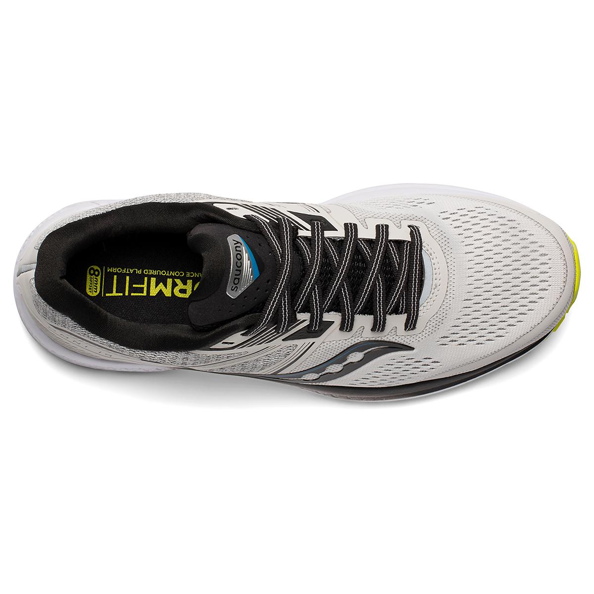 Men's Saucony Omni 19 Running Shoe - Color: Fog/Citrus - Size: 7 - Width: Regular, Fog/Citrus, large, image 4