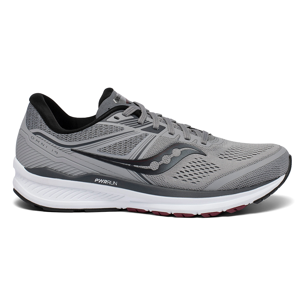 Men's Saucony Omni 19 Walking Shoe - Color: Alloy/Brick - Size: 7 - Width: Wide, Alloy/Brick, large, image 1