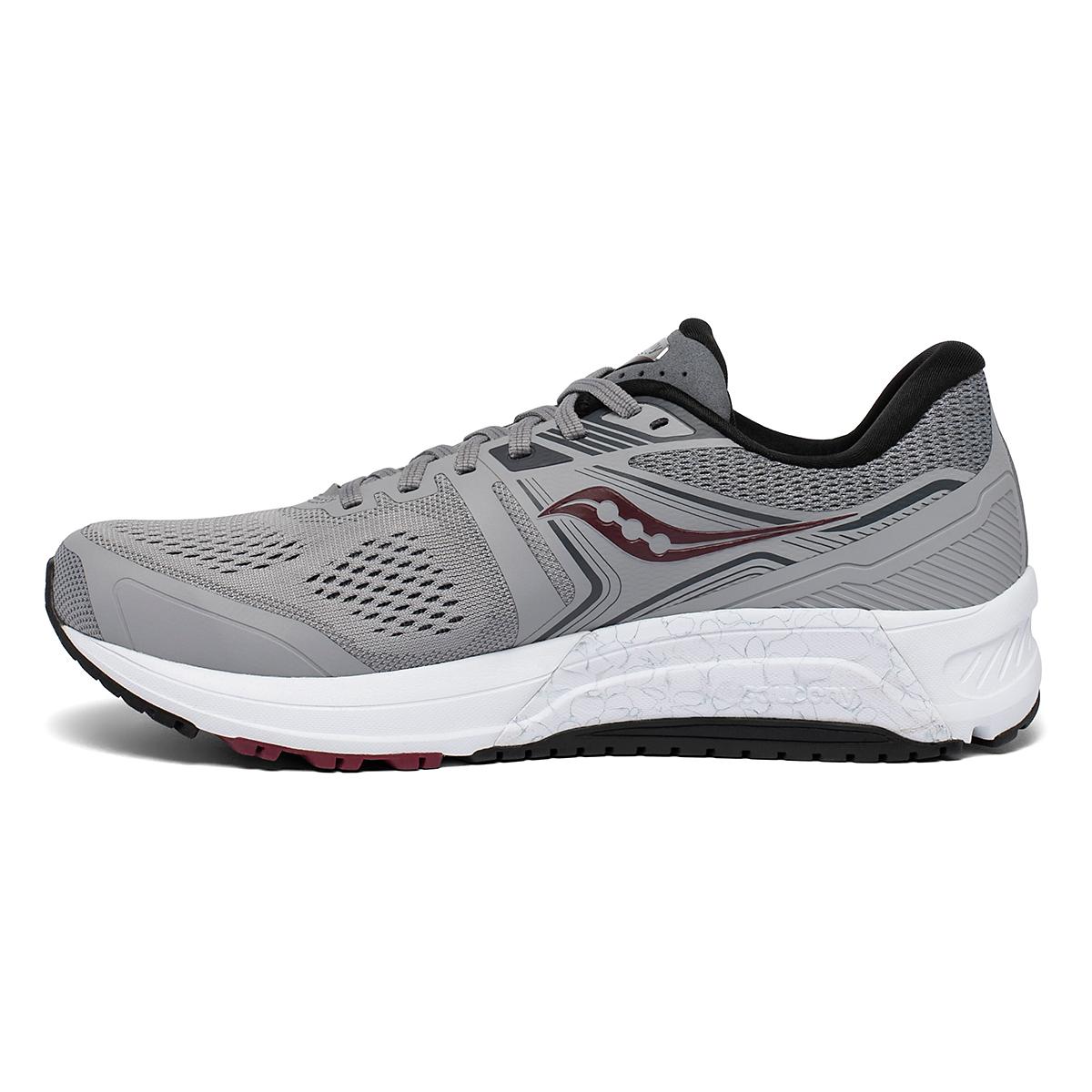 Men's Saucony Omni 19 Walking Shoe - Color: Alloy/Brick - Size: 7 - Width: Wide, Alloy/Brick, large, image 2