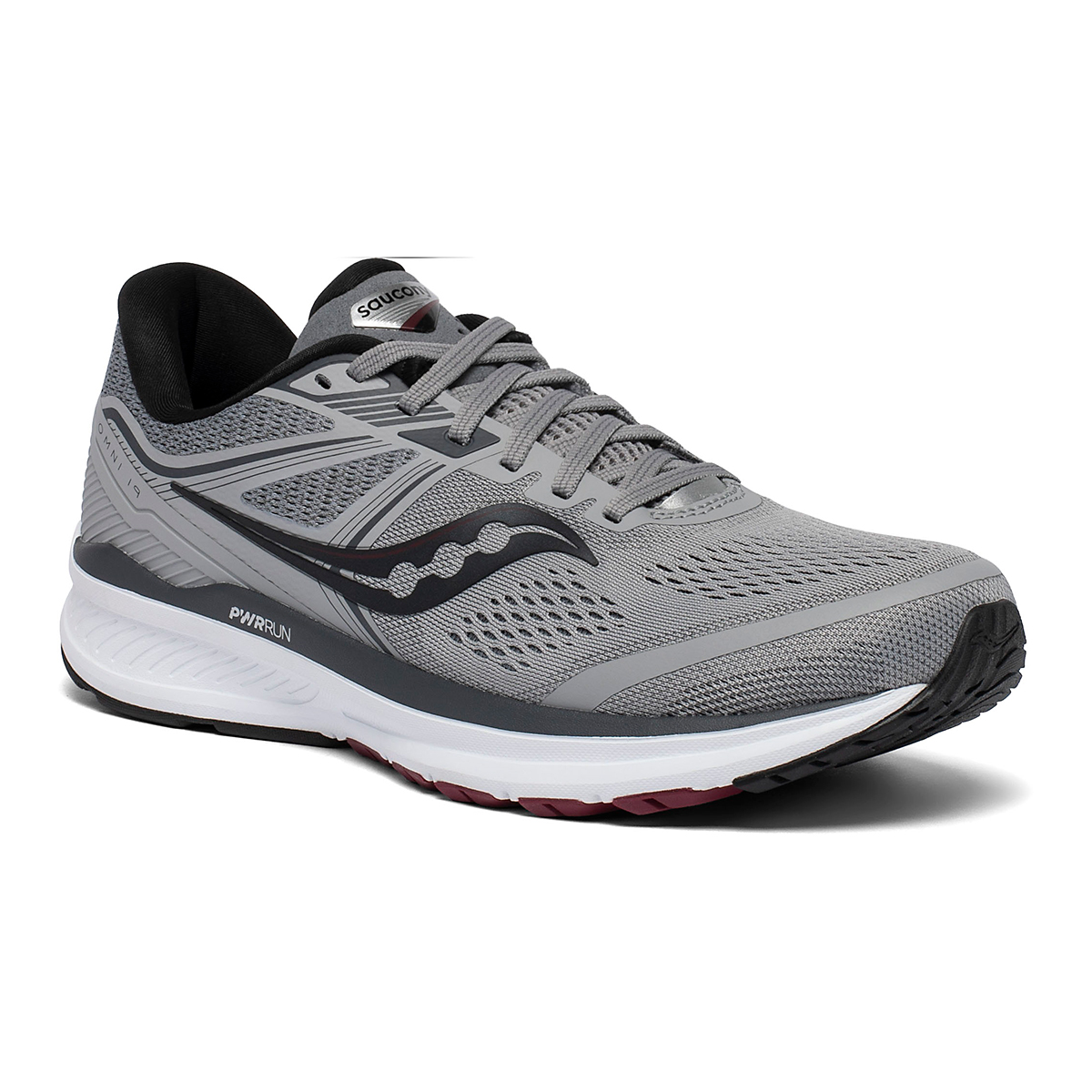 Men's Saucony Omni 19 Running Shoe - Color: Alloy/Brick - Size: 7 - Width: Wide, Alloy/Brick, large, image 5