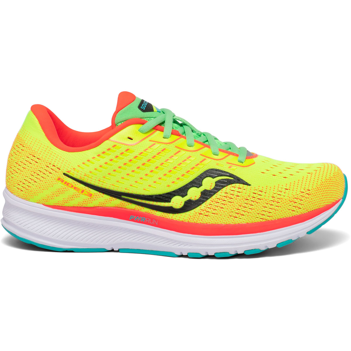 Men's Saucony Ride 13 Running Shoe - Color: Red Mutant - Size: 7 - Width: Regular, Red Mutant, large, image 1