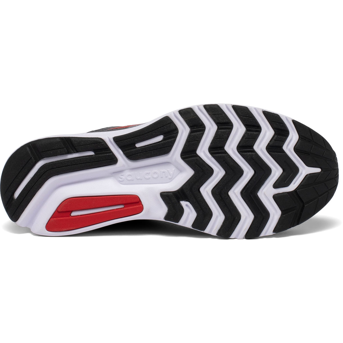Men's Saucony Ride 13 Running Shoe - Color: Charcoal/Red - Size: 7 - Width: Regular, Charcoal/Red, large, image 4
