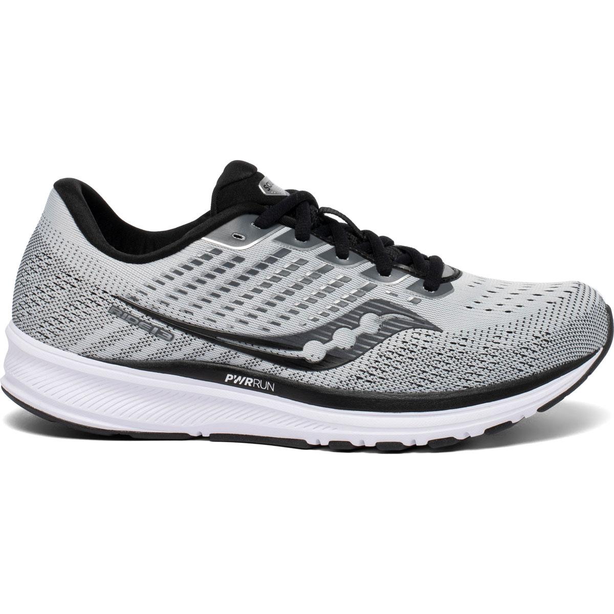 Men's Saucony Ride 13 Running Shoe - Color: Alloy/Black - Size: 7 - Width: Regular, Alloy/Black, large, image 1