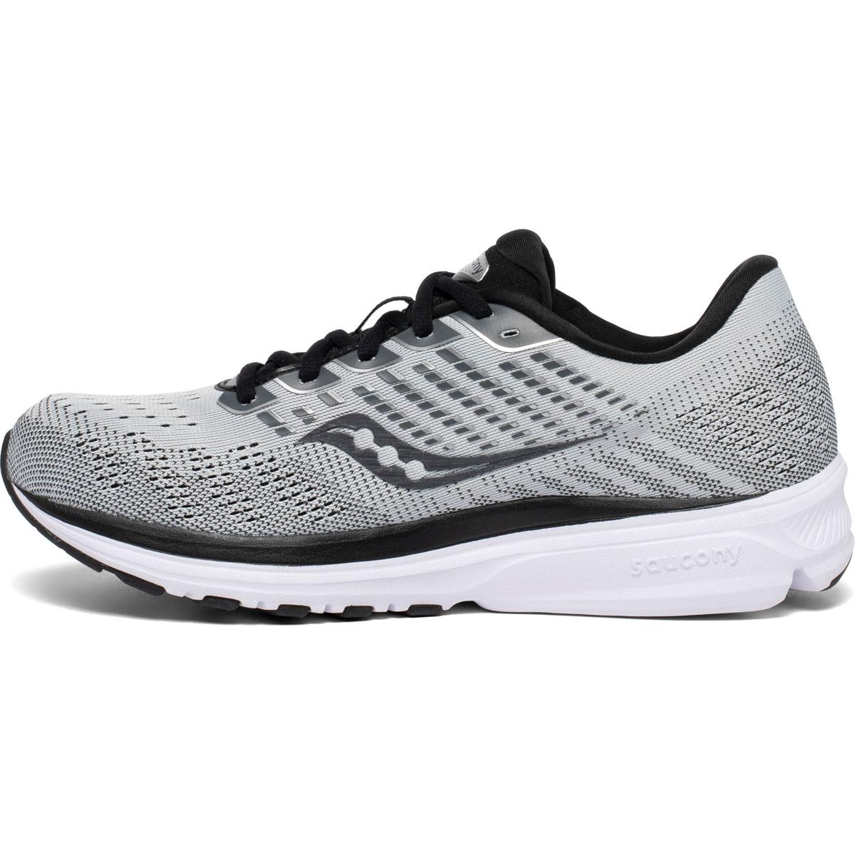 Men's Saucony Ride 13 Running Shoe - Color: Alloy/Black - Size: 7 - Width: Regular, Alloy/Black, large, image 2