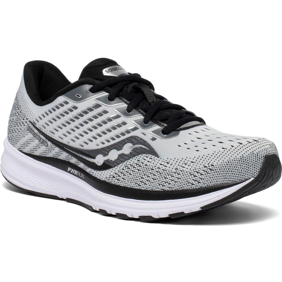 Men's Saucony Ride 13 Running Shoe - Color: Alloy/Black - Size: 7 - Width: Regular, Alloy/Black, large, image 5