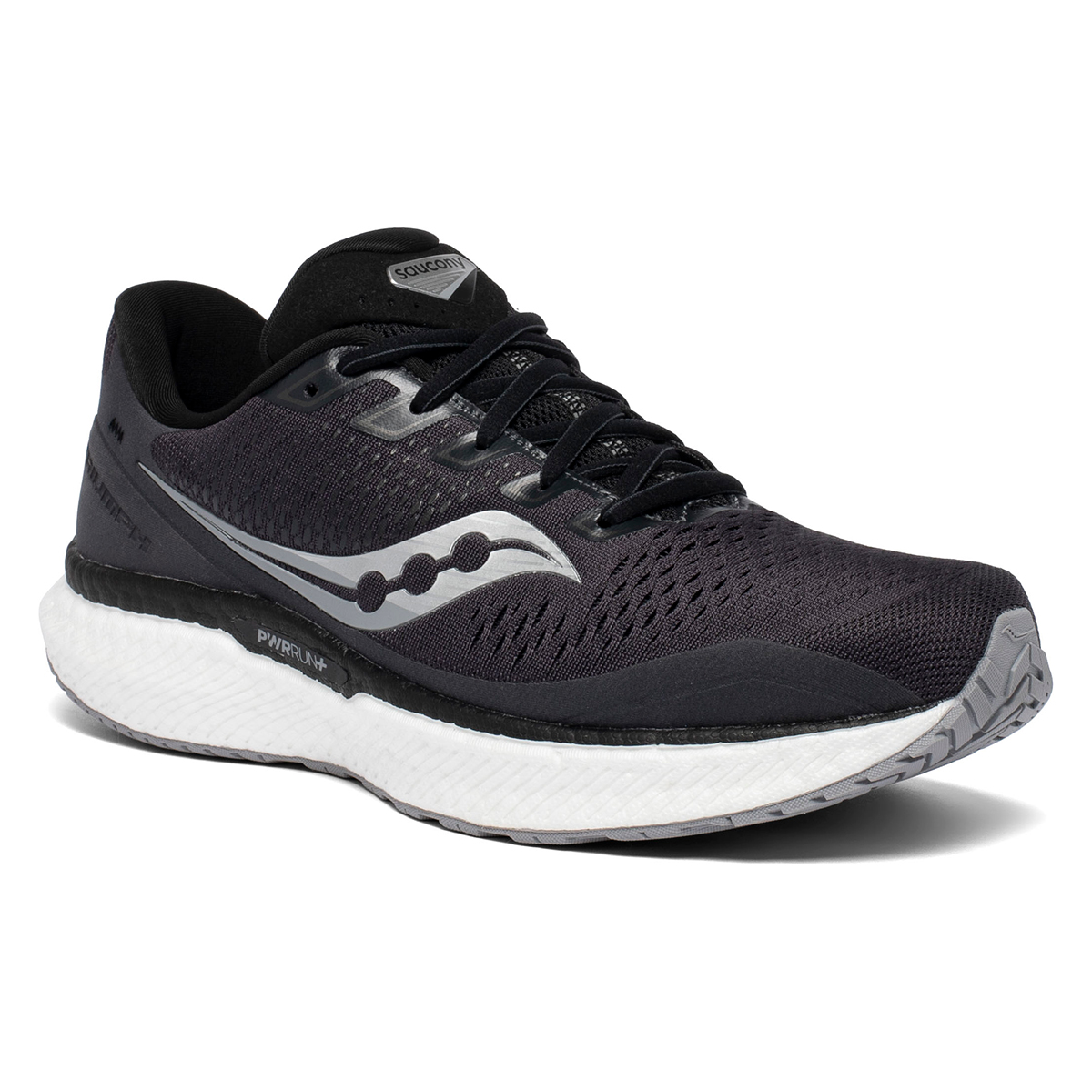 Men's Saucony Triumph 18 Running Shoe - Color: Charcoal/White - Size: 7 - Width: Regular, Charcoal/White, large, image 4