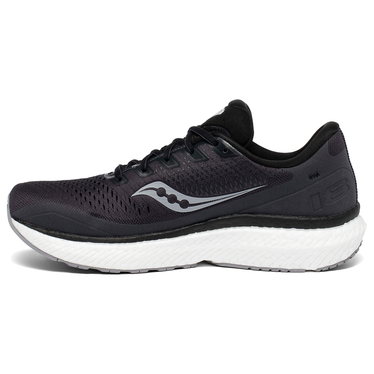 Men's Saucony Triumph 18 Running Shoe - Color: Charcoal/White - Size: 7 - Width: Regular, Charcoal/White, large, image 5