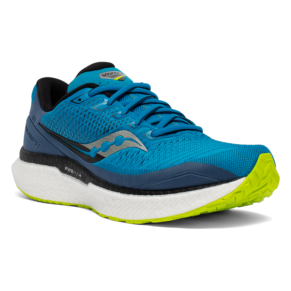 Men's Saucony Triumph 18 Running Shoe - Color: Cobalt/Storm - Size: 7 - Width: Regular, Cobalt/Storm, large, image 1