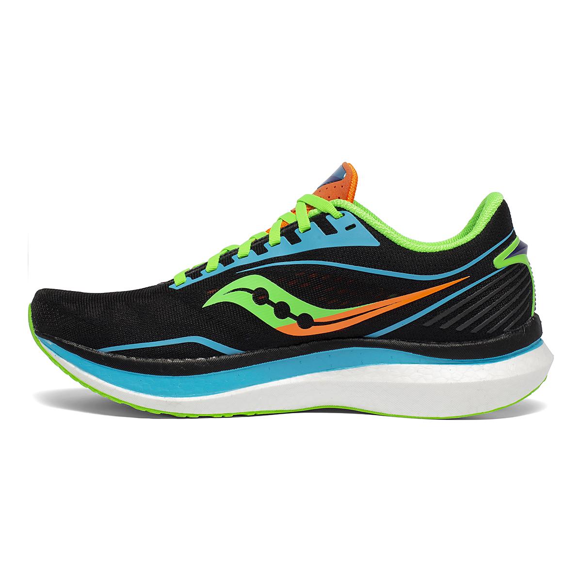 Men's Saucony Endorphin Speed Running Shoe - Color: Future/Black - Size: 7.5 - Width: Regular, Future/Black, large, image 2