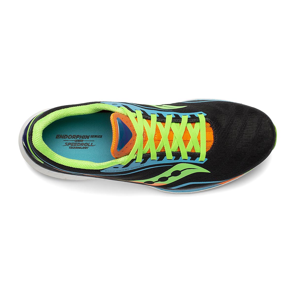 Men's Saucony Endorphin Speed Running Shoe - Color: Future/Black - Size: 7.5 - Width: Regular, Future/Black, large, image 3