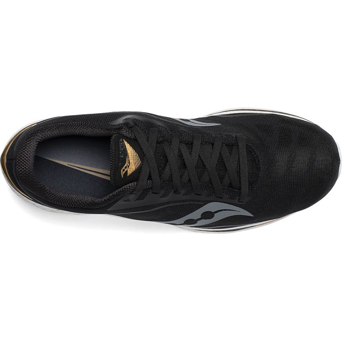 Men's Saucony Endorphin Speed Running Shoe - Color: Black/Gold - Size: 7 - Width: Regular, Black/Gold, large, image 3