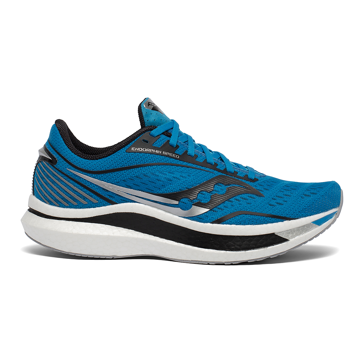 Men's Saucony Endorphin Speed Running Shoe - Color: Cobalt/Silver - Size: 8 - Width: Regular, Cobalt/Silver, large, image 1