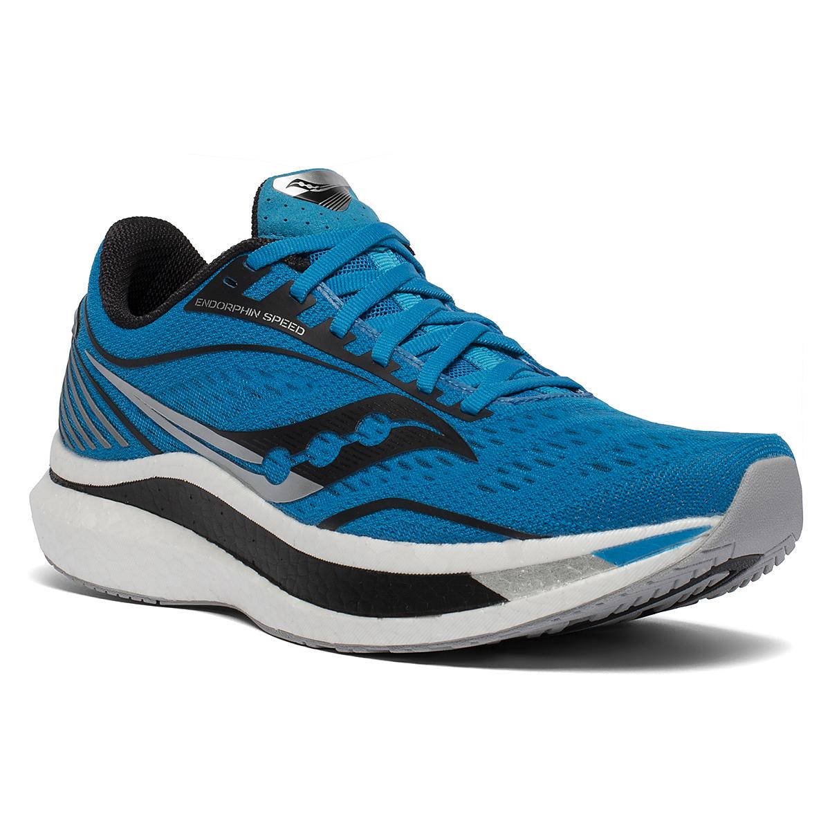 Men's Saucony Endorphin Speed Running Shoe - Color: Cobalt/Silver - Size: 8 - Width: Regular, Cobalt/Silver, large, image 5