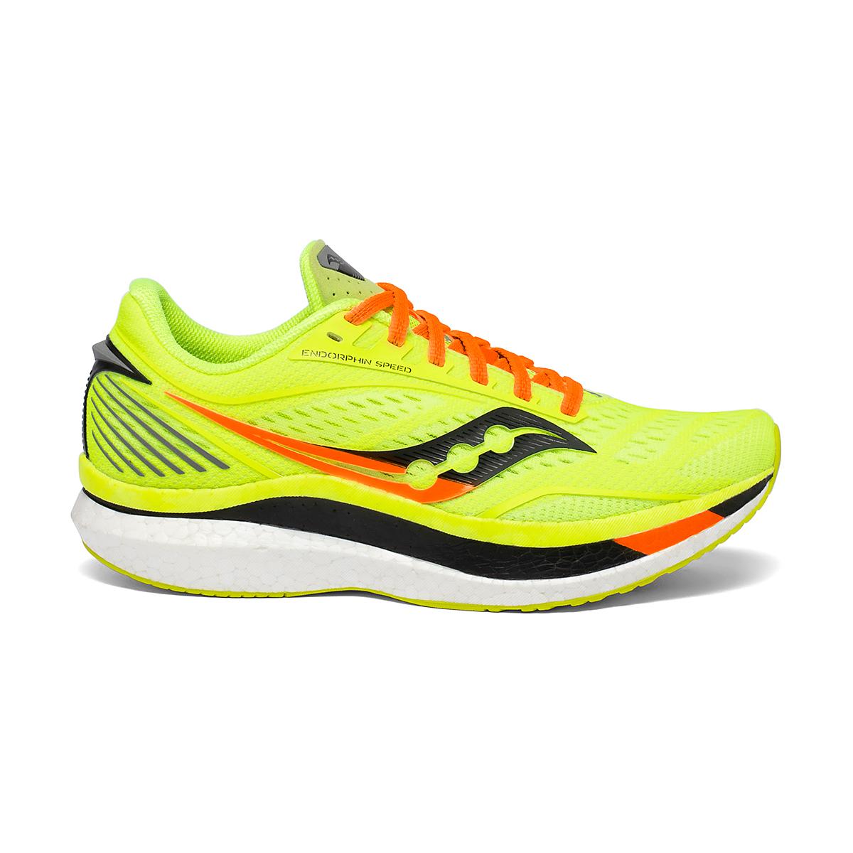 Men's Saucony VIZIPRO Speed Endorphin Speed Running Shoe - Color: Citron - Size: 7 - Width: Regular, Citron, large, image 1