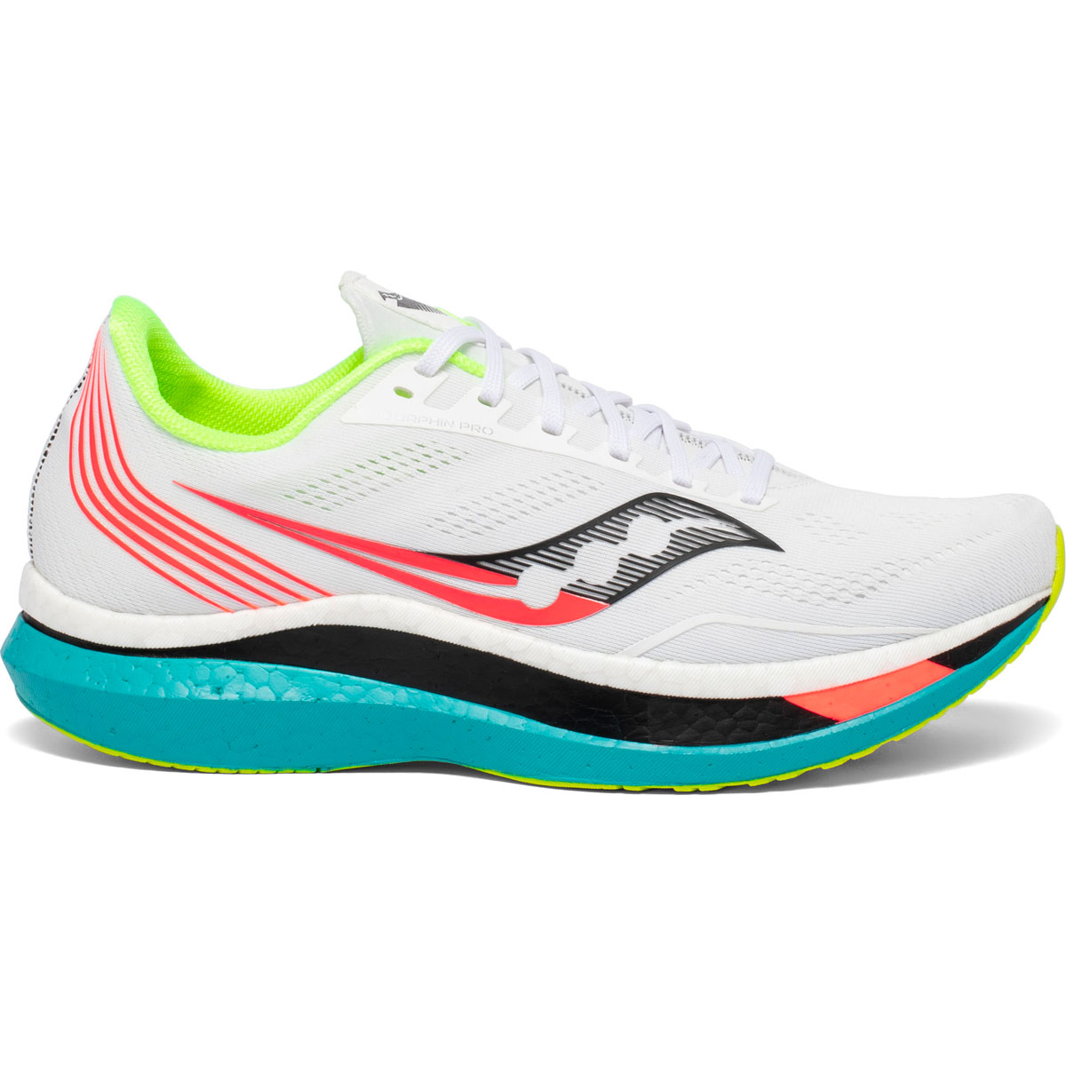 Men's Saucony Endorphin Pro Running Shoe - Color: White Mutant (Regular Width) - Size: 7, White Mutant, large, image 1