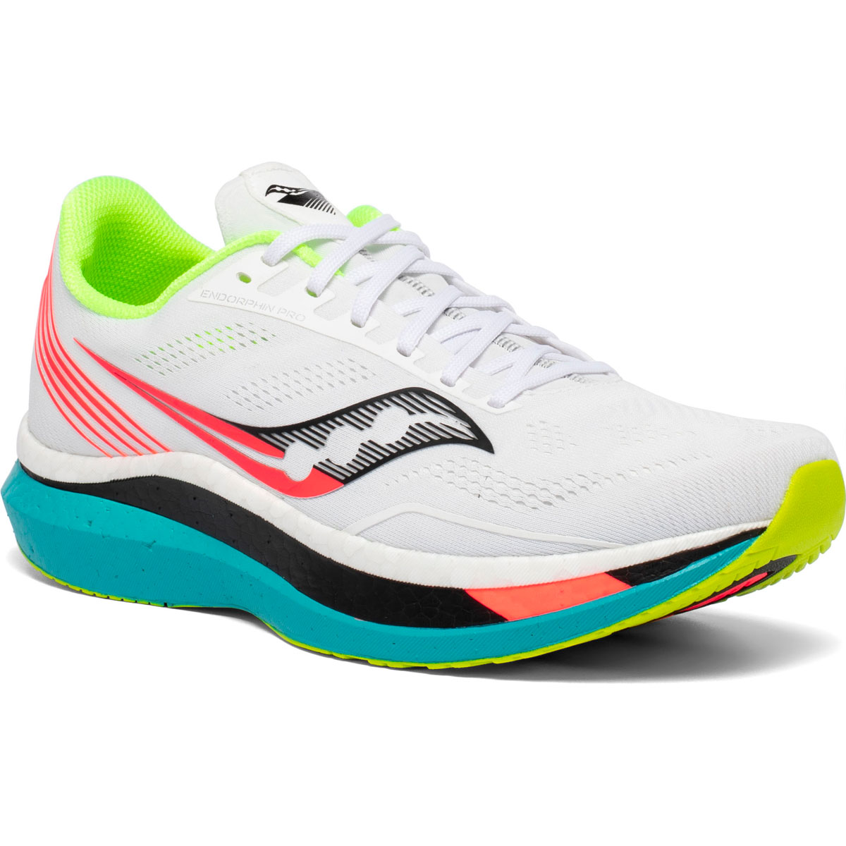 Men's Saucony Endorphin Pro Running Shoe - Color: White Mutant (Regular Width) - Size: 7, White Mutant, large, image 2