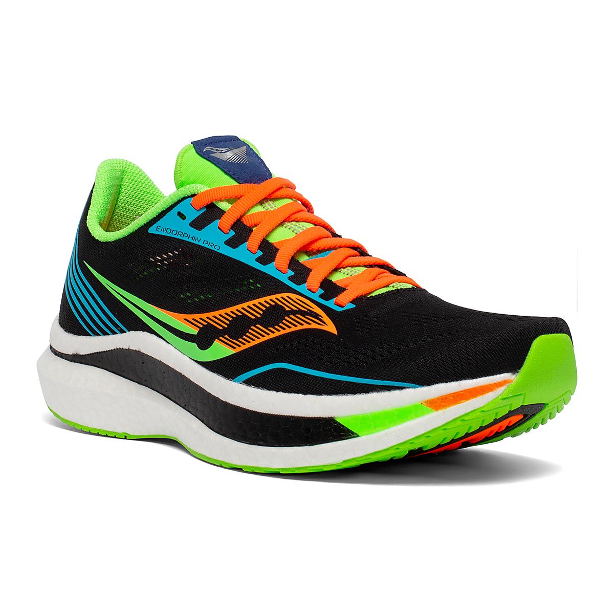 Men's Saucony Endorphin Pro Running Shoe - Color: Future/Black - Size: 7 - Width: Regular, Future/Black, large, image 1