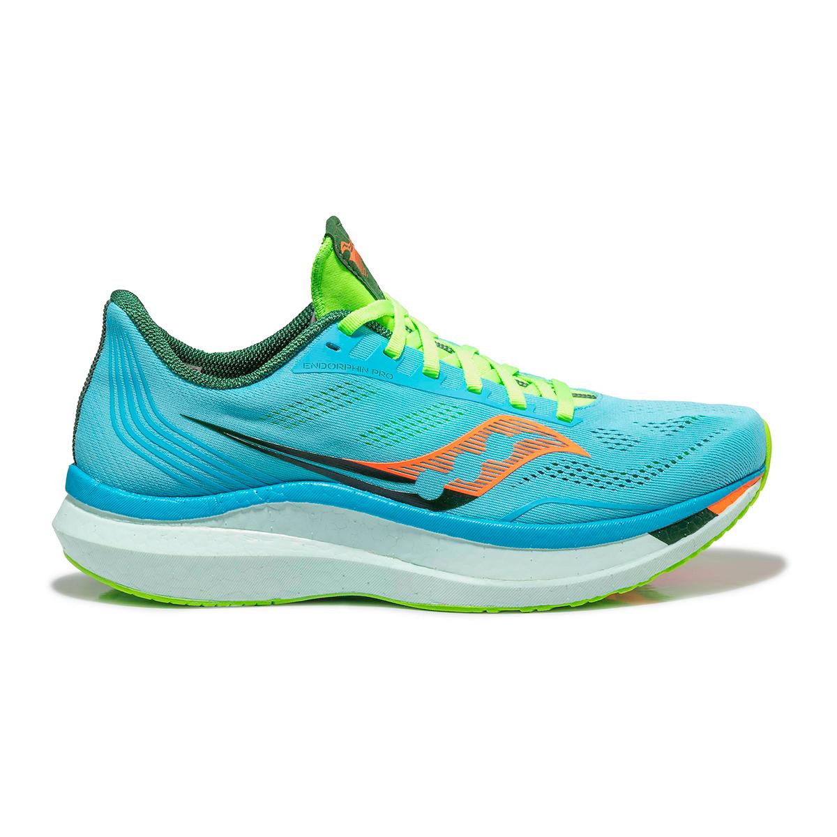 Men's Saucony Endorphin Pro Running Shoe - Color: Future/Blue - Size: 7 - Width: Regular, Future/Blue, large, image 1