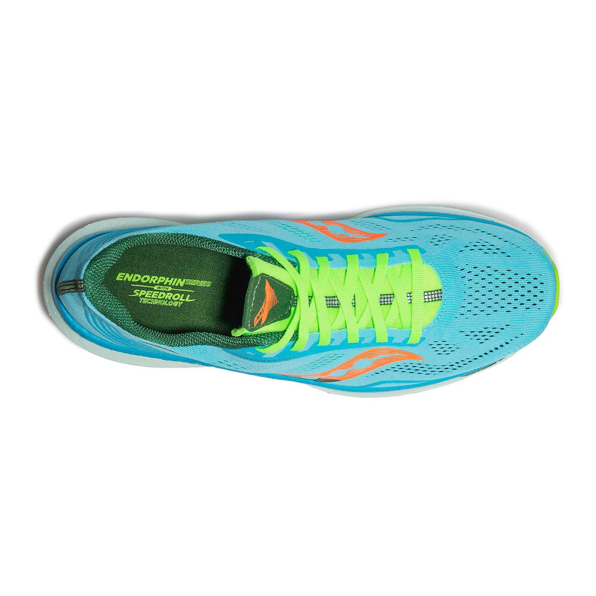 Men's Saucony Endorphin Pro Running Shoe - Color: Future/Blue - Size: 7 - Width: Regular, Future/Blue, large, image 3