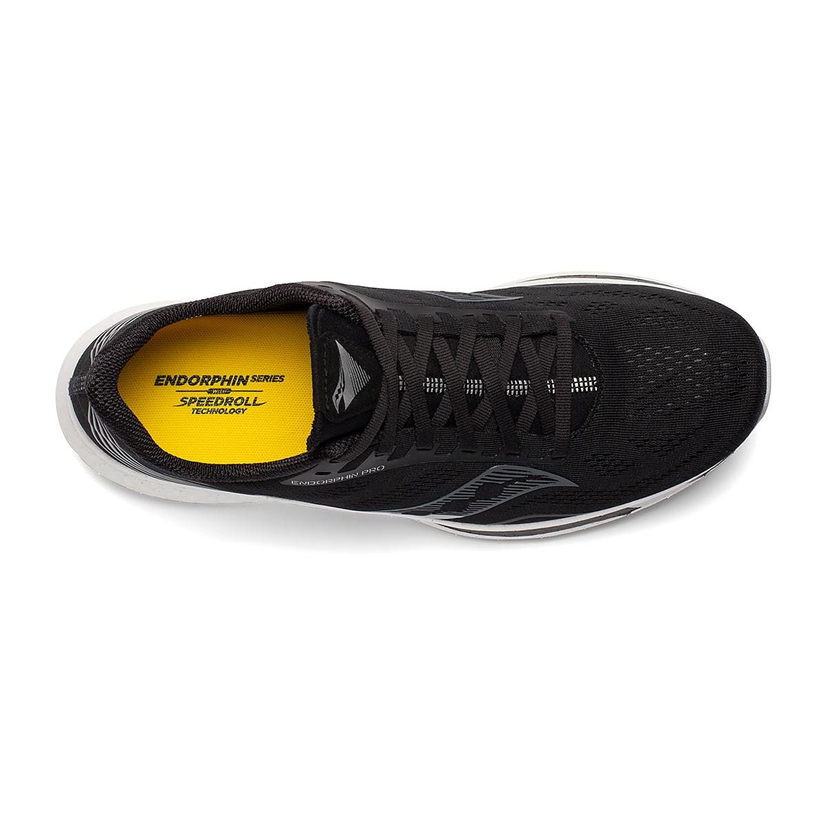 Men's Saucony Endorphin Pro Running Shoe - Color: Black/Silver - Size: 7 - Width: Regular, Black/Silver, large, image 4