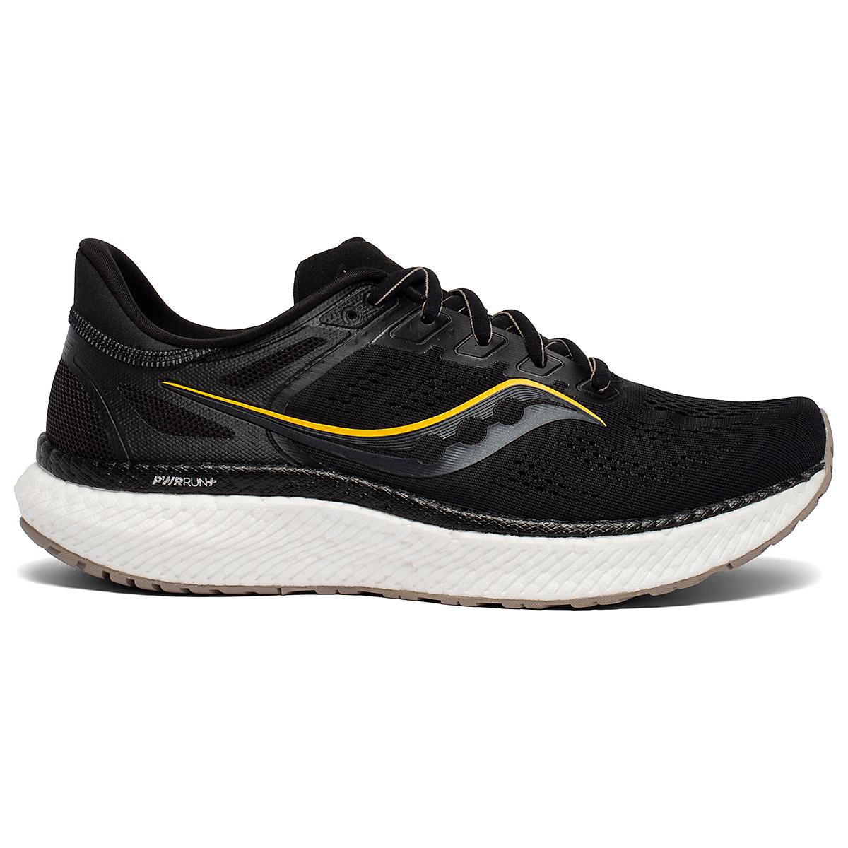 Men's Saucony Hurricane 23 Running Shoe - Color: Black/Vizigold - Size: 7 - Width: Regular, Black/Vizigold, large, image 1