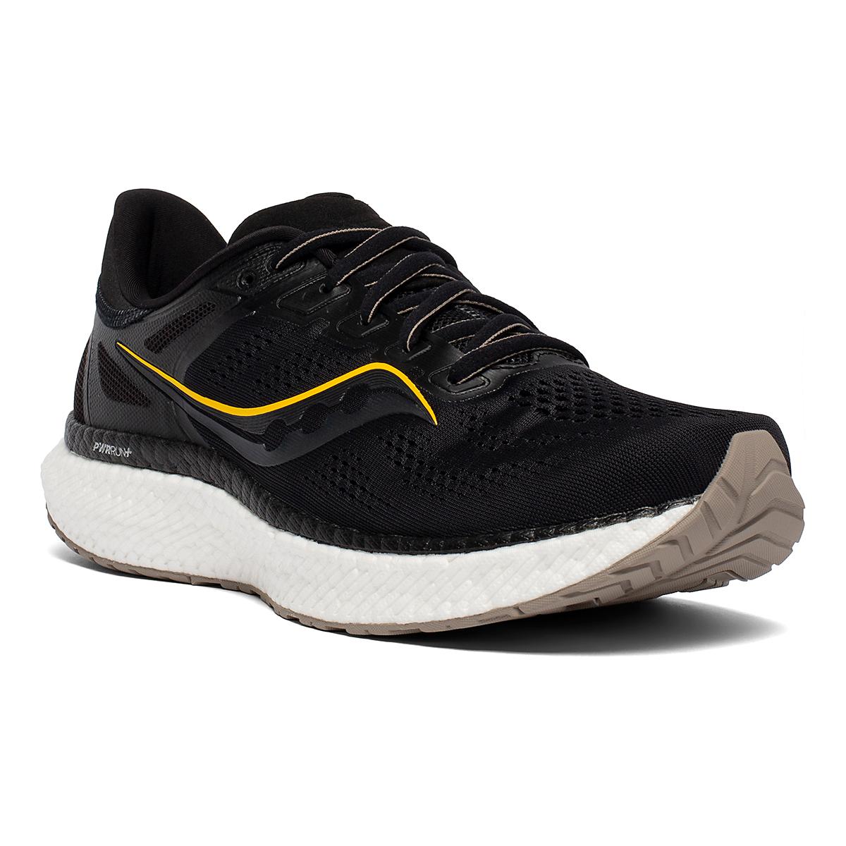 Men's Saucony Hurricane 23 Running Shoe - Color: Black/Vizigold - Size: 7 - Width: Regular, Black/Vizigold, large, image 3