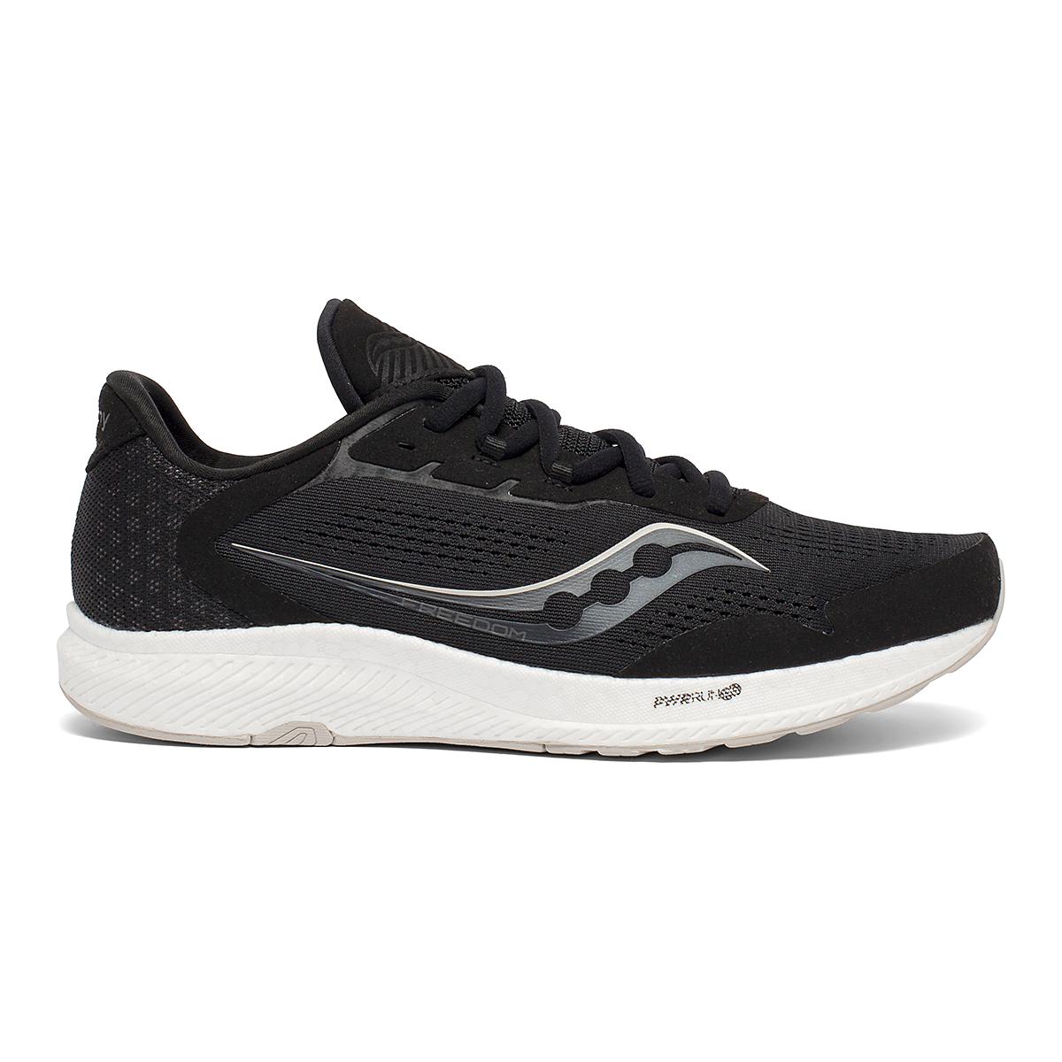 Men's Saucony Freedom 4 Running Shoe - Color: Black/Stone - Size: 7 - Width: Regular, Black/Stone, large, image 1