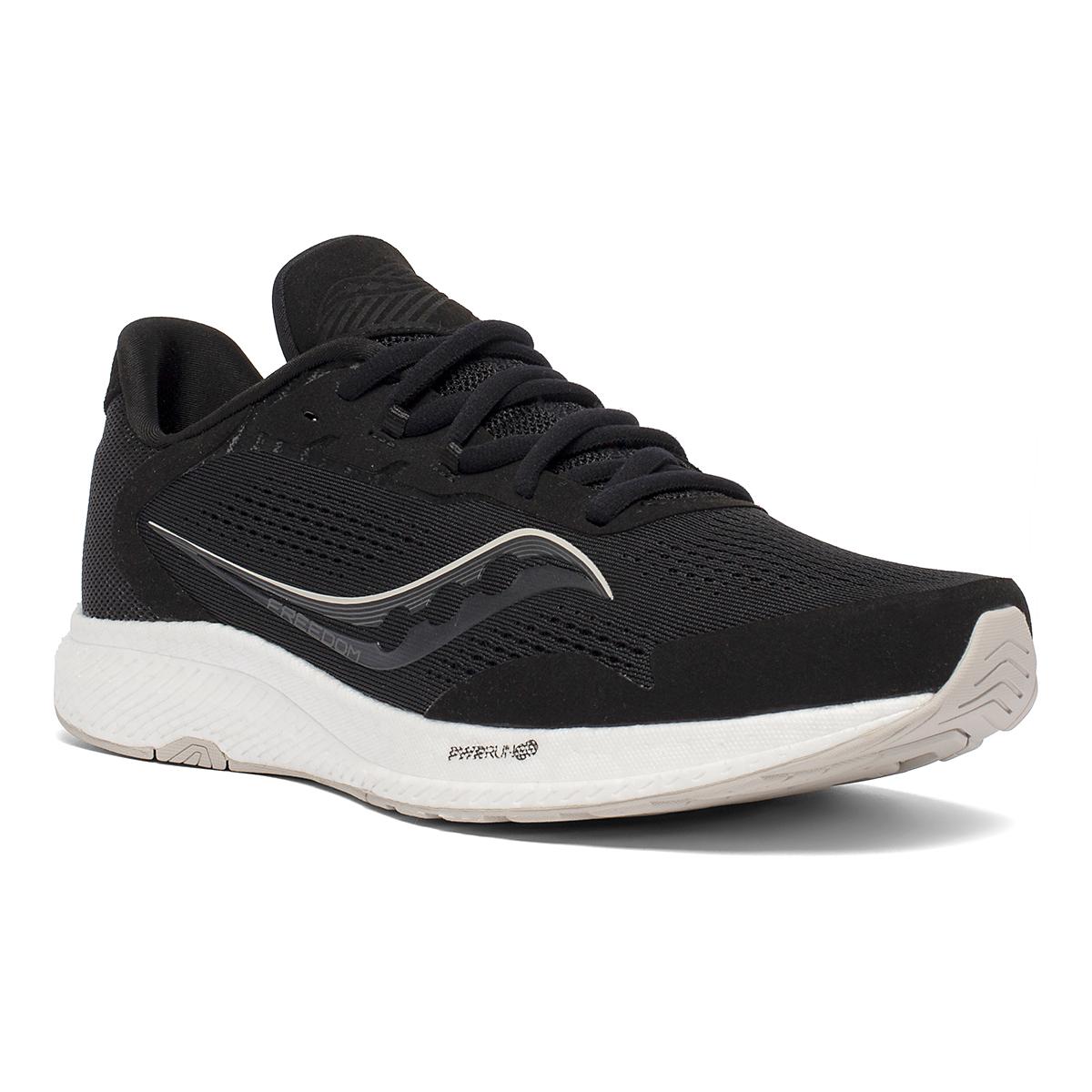Men's Saucony Freedom 4 Running Shoe - Color: Black/Stone - Size: 7 - Width: Regular, Black/Stone, large, image 3