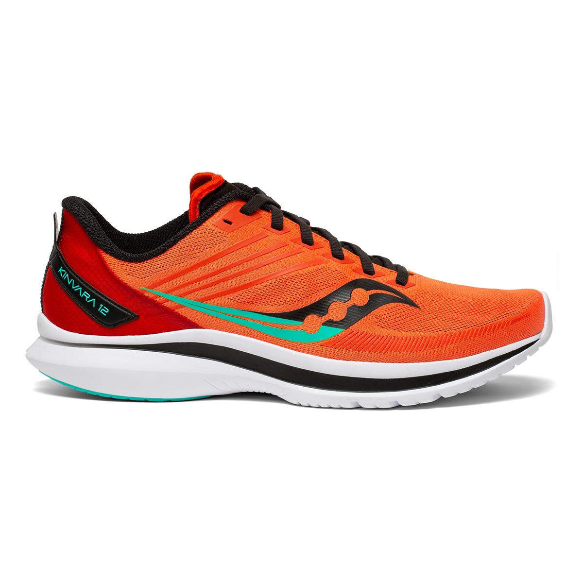 Men's Saucony Kinvara 12 Running Shoe - Color: Vizi/Scarlet - Size: 7 - Width: Regular, Vizi/Scarlet, large, image 1