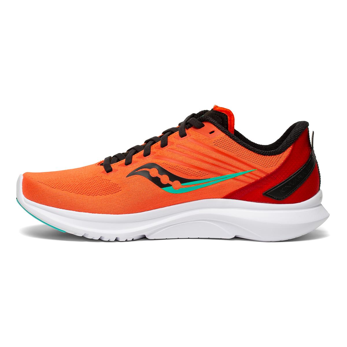 Men's Saucony Kinvara 12 Running Shoe - Color: Vizi/Scarlet - Size: 7 - Width: Regular, Vizi/Scarlet, large, image 2