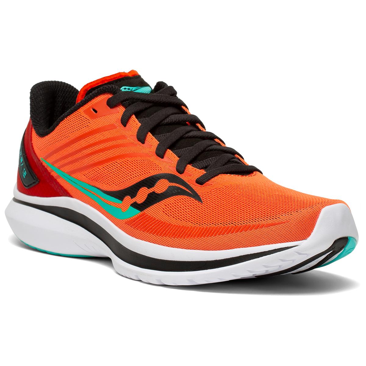 Men's Saucony Kinvara 12 Running Shoe - Color: Vizi/Scarlet - Size: 7 - Width: Regular, Vizi/Scarlet, large, image 3