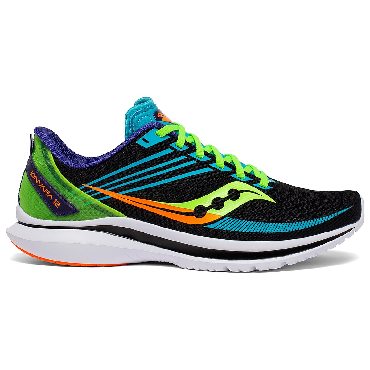 Men's Saucony Kinvara 12 Running Shoe - Color: Future/Black - Size: 7 - Width: Regular, Future/Black, large, image 1