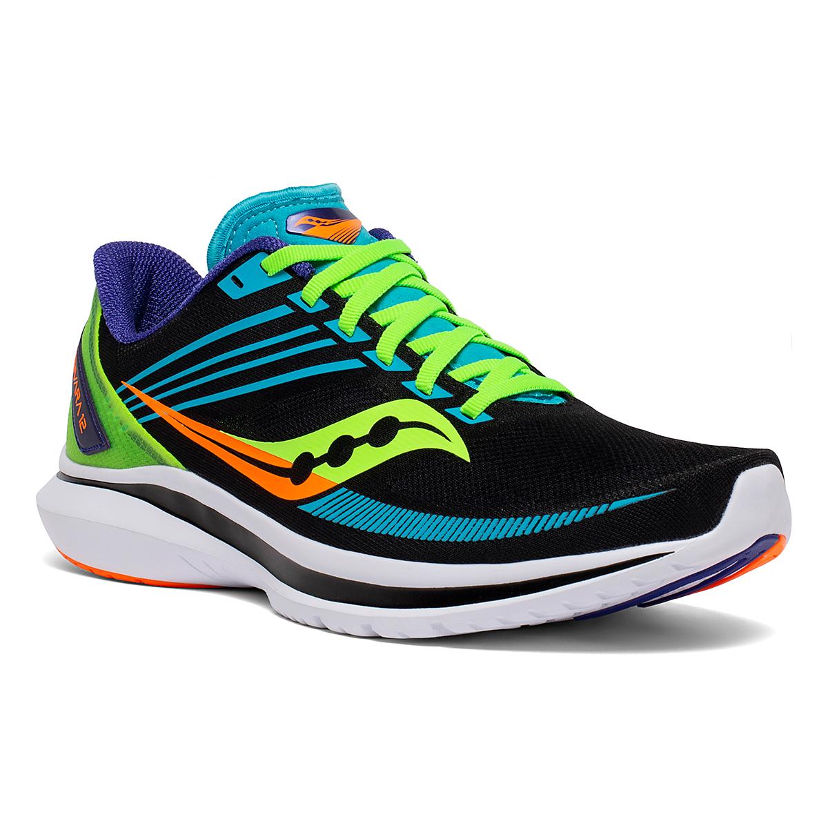 Men's Saucony Kinvara 12 Running Shoe - Color: Future/Black - Size: 7 - Width: Regular, Future/Black, large, image 3