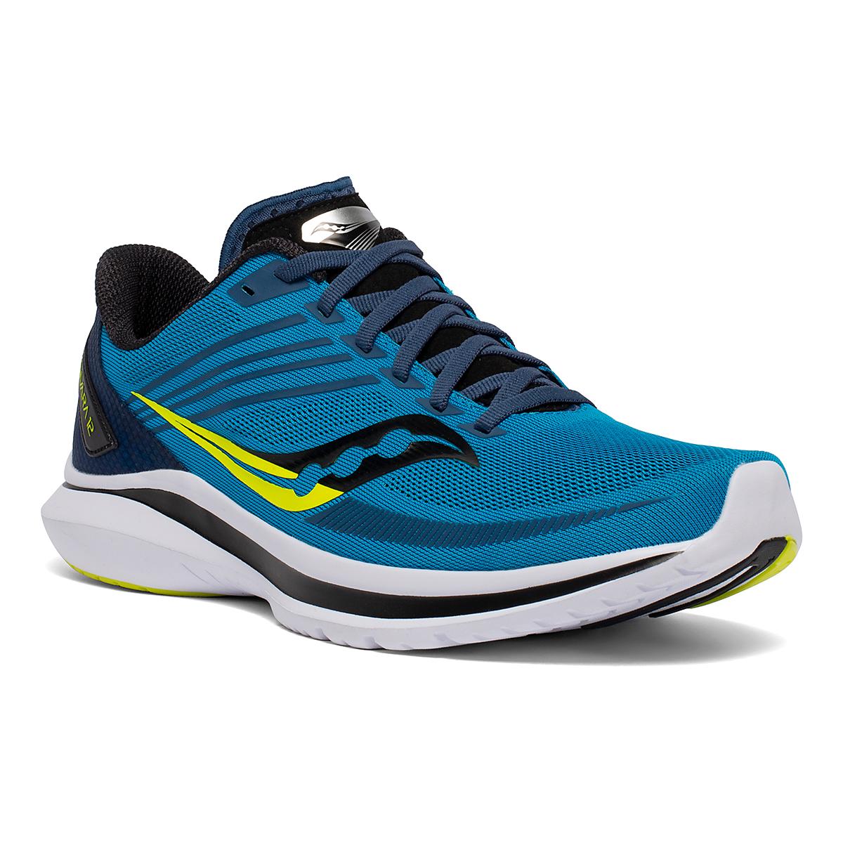 Men's Saucony Kinvara 12 Running Shoe - Color: Cobalt/Citrus - Size: 7 - Width: Regular, Cobalt/Citrus, large, image 3