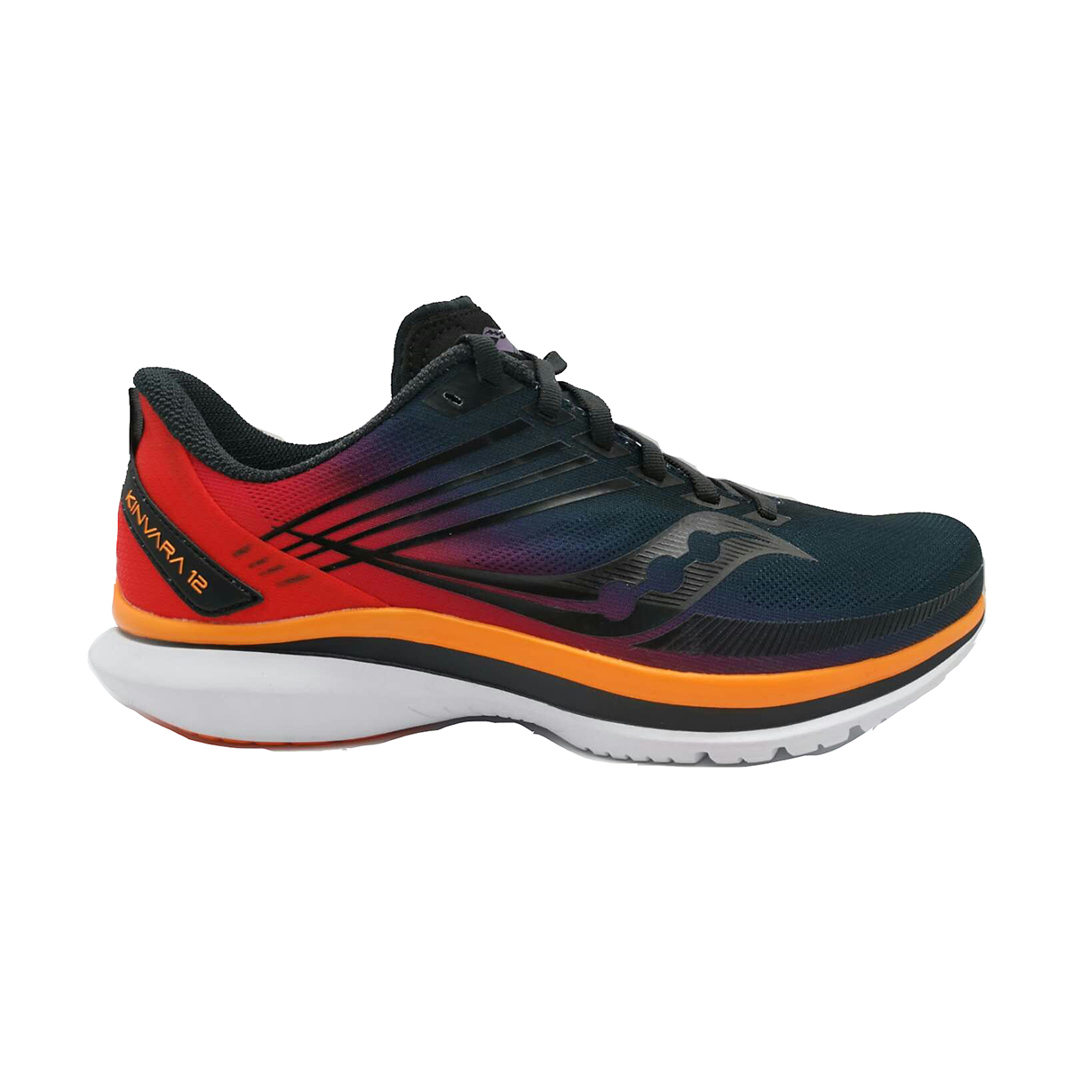 Men's Saucony Kinvara 12 Running Shoe - Color: Sunset - Size: 7 - Width: Regular, Sunset, large, image 1